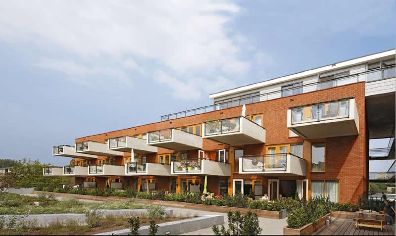 Het appartementcomplex